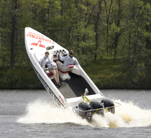 Tohatsu Triple 115 Twin Bridge Ski Team boat Wisconsin